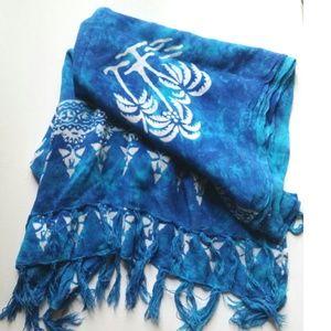 Other - Blue tie dye beach wrap